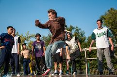 Künstlerbreakdance, Lizenzfreie Stockfotografie