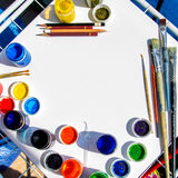 Künstlerfenster Stockfotografie