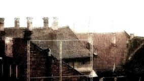 Künstlerisch geordneter Regenguß - starker Regen 02 stock footage