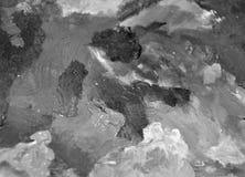 Künstlerische Ölpalette des realistischen Schwarzweiss-Malers Stockbilder
