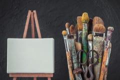 Künstlerische Ausrüstung stilisiert Foto Stockfotos