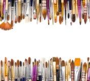 Künstlerische Bürsten in Folge gezeichnet Stockfoto
