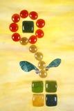 Künstlerische Beschreibung der Blume Stockbild