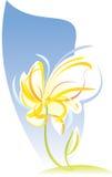Künstlerische Blumenskizze. Vektorabbildung Lizenzfreie Stockfotos
