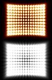 Künstlerische Flutlicht-Wand Stockfotografie