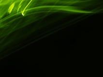 Künstlerische grüne seidige Spur Stockbild