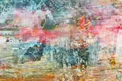 Künstlerische grungy handgemalte Segeltuchoberfläche Stockbild