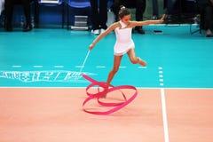 Künstlerische Gymnastik stockfoto