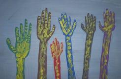 Künstlerische Hände Stockfotos