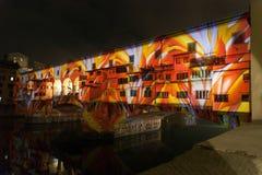 Künstlerische helle Leistung auf Ponte Vecchio lizenzfreies stockbild