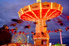 Künstlerische Karnevals-Fahrszene Lizenzfreies Stockbild