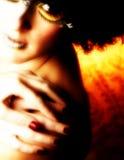 Künstlerische Kosmetik Stockfotos