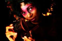 Künstlerische Kosmetik Stockfoto