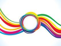 Künstlerische kreative Regenbogenwelle Absract Stockbild