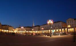 Künstlerische Lampen in Turin Stockbild