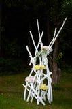 Künstlerische Landschaft-im Garten arbeitenblumen-Vorbereitungen Lizenzfreies Stockbild