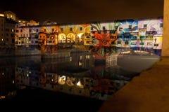 Künstlerische Leistung auf Ponte Vecchio stockbilder