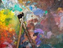 Künstlerische Malerpinsel Lizenzfreies Stockfoto