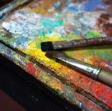 Künstlerische Malerpinsel Lizenzfreie Stockfotos
