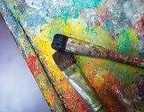 Künstlerische Malerpinsel Lizenzfreie Stockbilder
