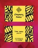 Künstlerische moderne Visitenkarteschablone Template für Geschäftsgestaltungsarbeiten Stockfotos
