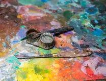 Künstlerische Palettenmesser Lizenzfreie Stockfotografie