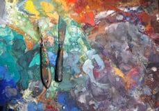 Künstlerische Palettenmesser Lizenzfreies Stockbild