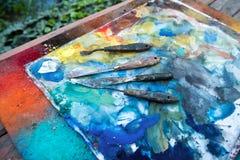 Künstlerische Palettenmesser Lizenzfreie Stockbilder
