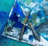 Künstlerische Palettenmesser Stockbilder