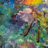 Künstlerische Palettenmesser Stockbild
