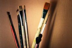 Künstlerische Pinsel Lizenzfreies Stockfoto