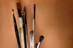 Künstlerische Pinsel Lizenzfreie Stockbilder