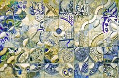 Künstlerische Wand Stockbild