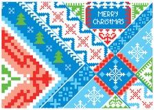 Künstlerische Weihnachtskarte Lizenzfreies Stockbild