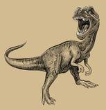 Künstlerische Zeichnung des Dinosauriers Stockfotos