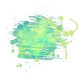 Künstlerischer Aquarellvektorhintergrund. Hellgrün stock abbildung