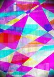 Künstlerischer Auszug deckt Hintergrund mit Ziegeln Lizenzfreie Stockfotografie