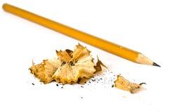 Künstlerischer Bleistift und Schnitzel Lizenzfreies Stockbild