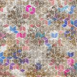 Künstlerischer dekorativer moderner Musterarthintergrund lizenzfreie stockbilder