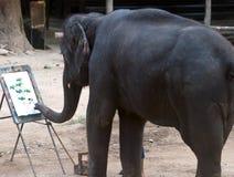 Künstlerischer Elefant Stockbild