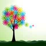 Künstlerischer Frühling oder Sommerlandschaft Stockbilder
