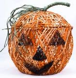 Künstlerischer Halloween-Korb Lizenzfreies Stockbild
