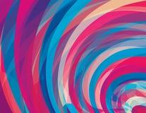 Künstlerischer Hintergrund mit Strudel Verschiedene Varianten der Farbe sind möglich CMYK colors stock abbildung