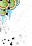 Künstlerischer Retro- Hintergrund Stockfotos