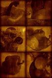 Künstlerischer stilvoller Hintergrund der Weinlese stockbild