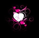 Künstlerischer Valentinsgrußhintergrund Stockfoto