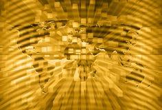 Künstlerischer Weltkartereichtums-Konzepthintergrund Lizenzfreies Stockfoto