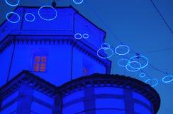 Künstlerisches beleuchtetes Kirchedetail stockfotografie