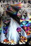 Künstlerisches Bild von Kristallen der Zitronensäure Lizenzfreies Stockbild