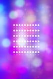 Künstlerisches bokeh beleuchtet Hintergrund mit grafischen Elementen Lizenzfreie Stockfotos